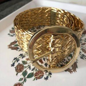Vintage gold woven belt